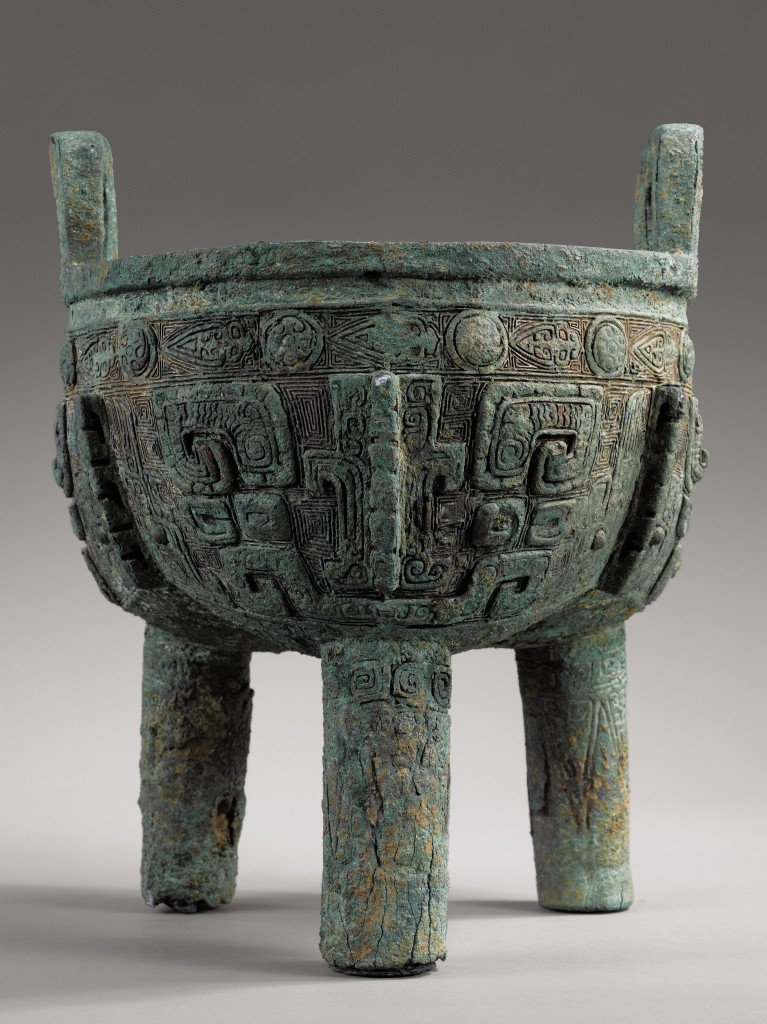 Large archaic bronze ritual food vessel. @Courtesy Sotheby's