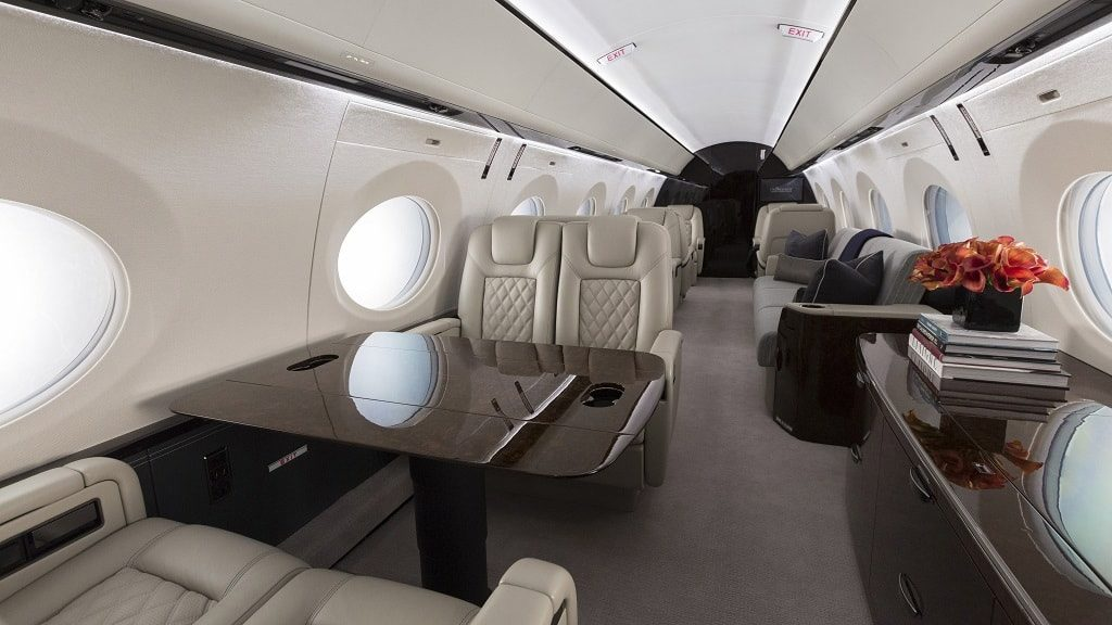 Интерьер G500. ФОТО: GULFSTREAM AEROSPACE CORPORATION